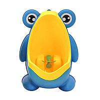 Детский тренировочный писсуар-горшок PottyFrog для мальчиков в виде Жабки голубой