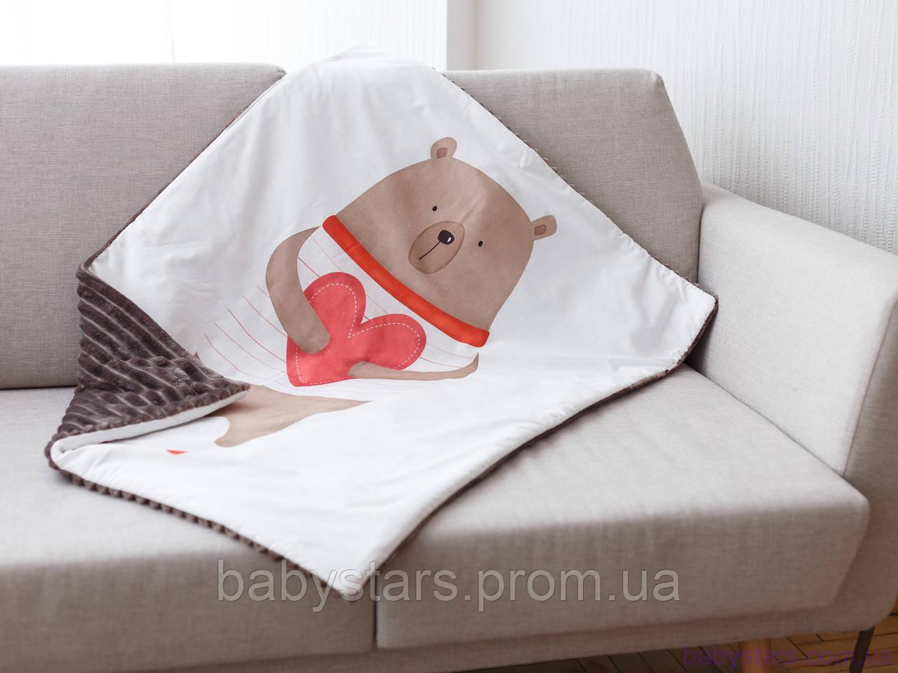 """Теплый плед для новорожденного """"Любимый мишка"""""""