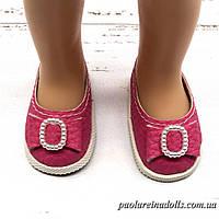 Туфли малиновые с бантиком для кукол Паола Рейна