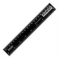 Линейка пластиковая, 20 см, черная, AXENT, 7620-01-A