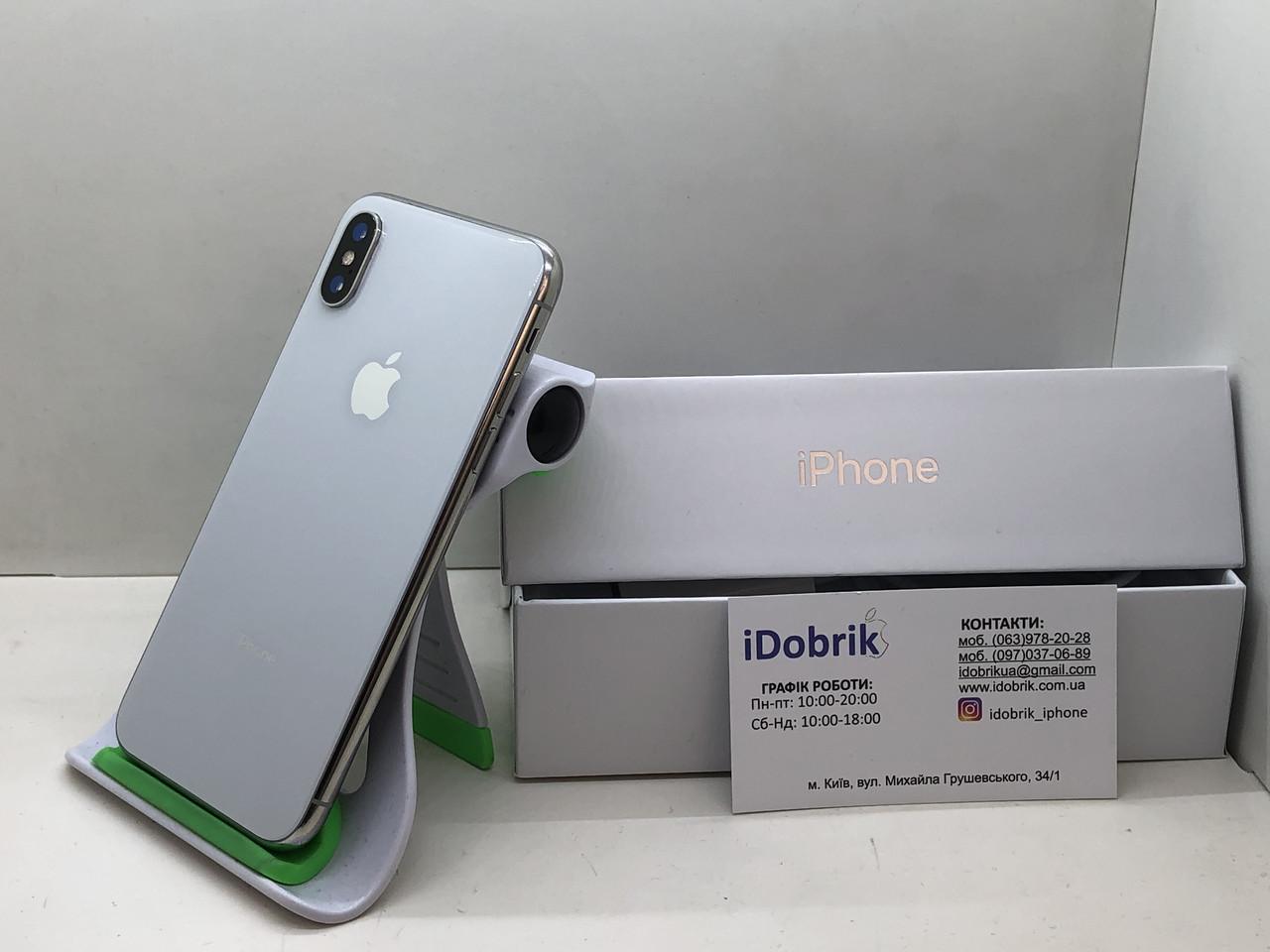 Телефон Apple iPhone XS 64gb Silver Neverlock 9/10
