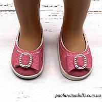 Туфли розовые с бантиком для кукол Паола Рейна