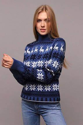 """Изумительный женский свитер """"Вязка+полушерсть"""" 48, 50 размер батал, фото 2"""