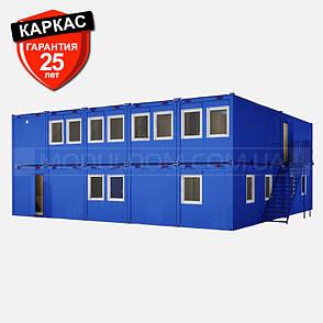 Блок-контейнер ОПЕНСПЕЙС-10 (12 х 12 м.), площадь застройки 144 м2, на основе цельно-сварного металлокаркаса., фото 2