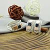 Серебряный набор с натуральными сапфирами и сертификатом кольцо размер 20 + серьги 19х10 вставка сапфир, фото 3