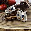 Серебряный набор с натуральными сапфирами и сертификатом кольцо размер 20 + серьги 19х10 вставка сапфир, фото 4