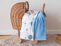"""Плед в коляску для новорожденного зимой """"Космос"""""""