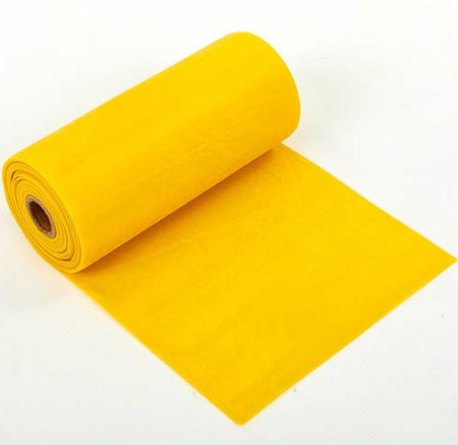 Лента-эспандер для фитнеса, пилатеса и йоги в рулоне (р-р 5,5мx15смx0,45мм, латекс, желтый)