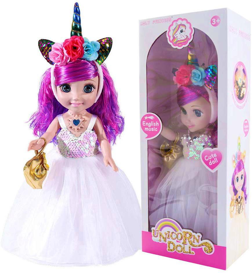 Лялька, ходить, співає пісню, рухає руками, головою, на ляльці, світяться туфлі і обруч, висота 40см