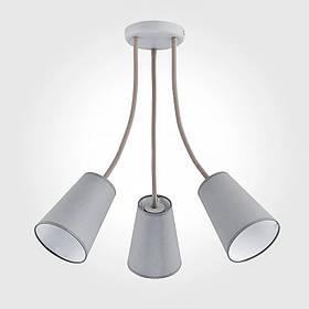 Люстра потолочная на три лампы NM-814305/3 WT BR белая