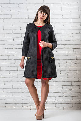 Кардиган для девушки  модный 42-48 черный