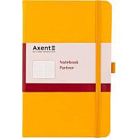 Книга записная Partner, 125*195, 96л, кл, жёлтая, AXENT, 8201-08-A