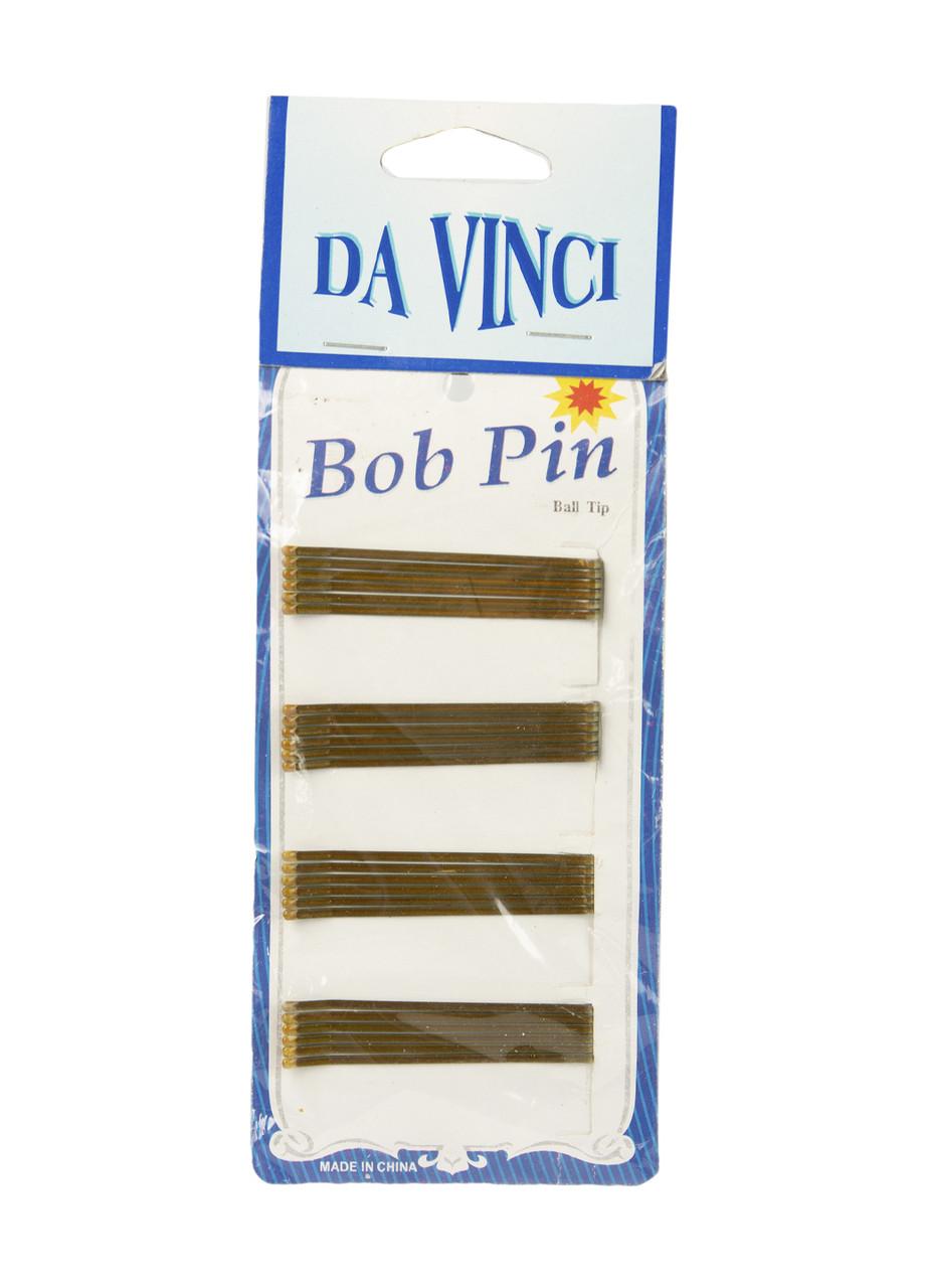 Набор невидимок Da Vinci 6х0,2см (24шт) золотой