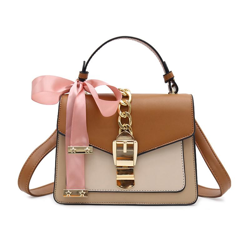 Женская стильная сумочка современного дизайна,  бежевая UA-3