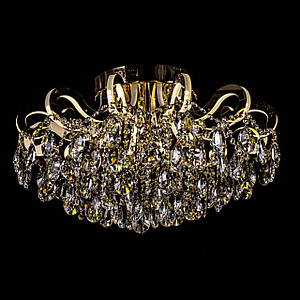 Кришталева люстра зі світними ріжками на 4 лампочки P5-E1624/4+12/FG