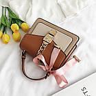 Женская стильная сумочка современного дизайна,  бежевая UA-3, фото 2