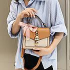 Женская стильная сумочка современного дизайна,  бежевая UA-3, фото 4