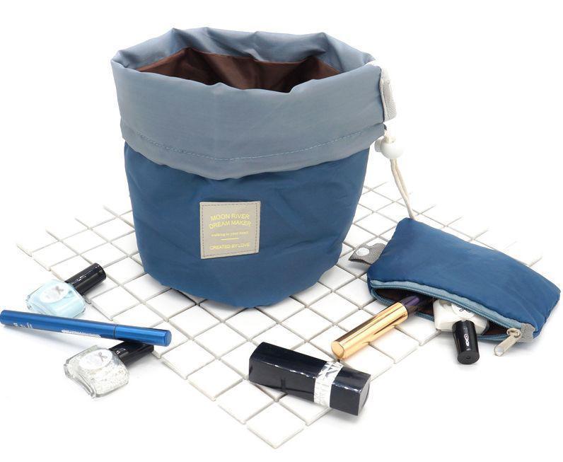 Сумка-органайзер / косметичка / несессер дорожный для косметики (водоупорный, с затягиваемой горловиной)