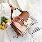 Женская стильная сумочка современного дизайна,  бежевая UA-3, фото 5