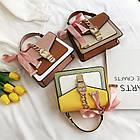 Женская стильная сумочка современного дизайна,  бежевая UA-3, фото 7