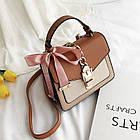 Женская стильная сумочка современного дизайна,  бежевая UA-3, фото 9
