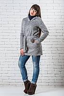 Модный кардиган  женский длинный 42-48 серый
