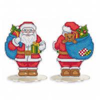 """Набор для вышивки крестом на пластиковой основе ТМ Овен """"Санта-Клаус"""" 1257"""