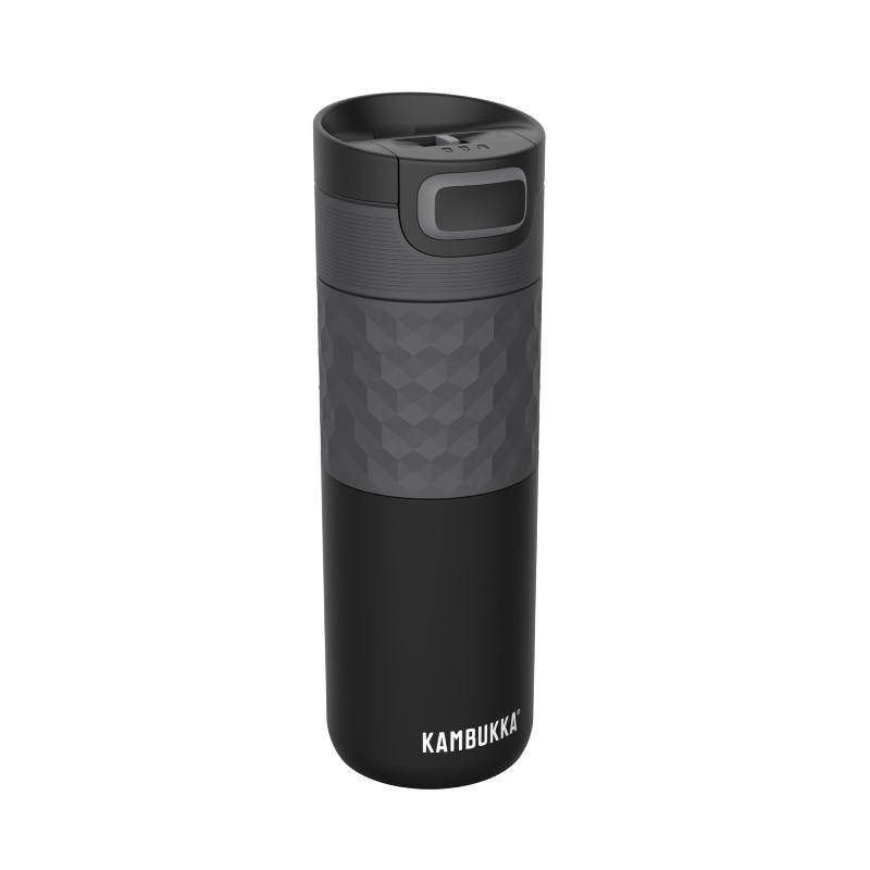 Термокружка Kambukka Etna Grip вакуумная стальная, черная, 500 мл