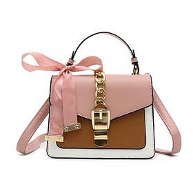 Жіноча стильна сумочка сучасного дизайну, коричнева UA-4