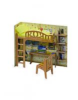 263 Мебель: Уголок школьника Умная бумага Сборная модель из картона