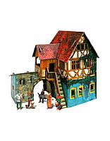 284 Средневековый город: Дом с кораблем Умная бумага Сборная модель из картона