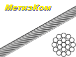 Трос 2мм сталевий DIN3053 (бухта 200м)