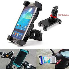 Держатель / кріплення універсальне для телефону / смартфона (ширина ≤ 9.5 см) поворотне на 360° на велоруль