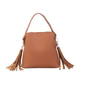 Жіноча зручна сумочка, коричнева PA-1