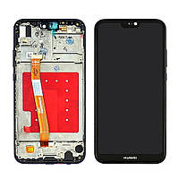 Дисплей для HUAWEI P20 Lite с чёрным тачскрином и корпусной рамкой (ID:23305)