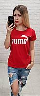 Футболка женская оптом реплика Пума s,m,l Красный