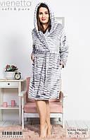 Женский махровый халат с тигровым принтом