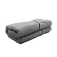 Полотенце лицо/руки Febo 50*90 см махра светло-серый с бордюром (L110)