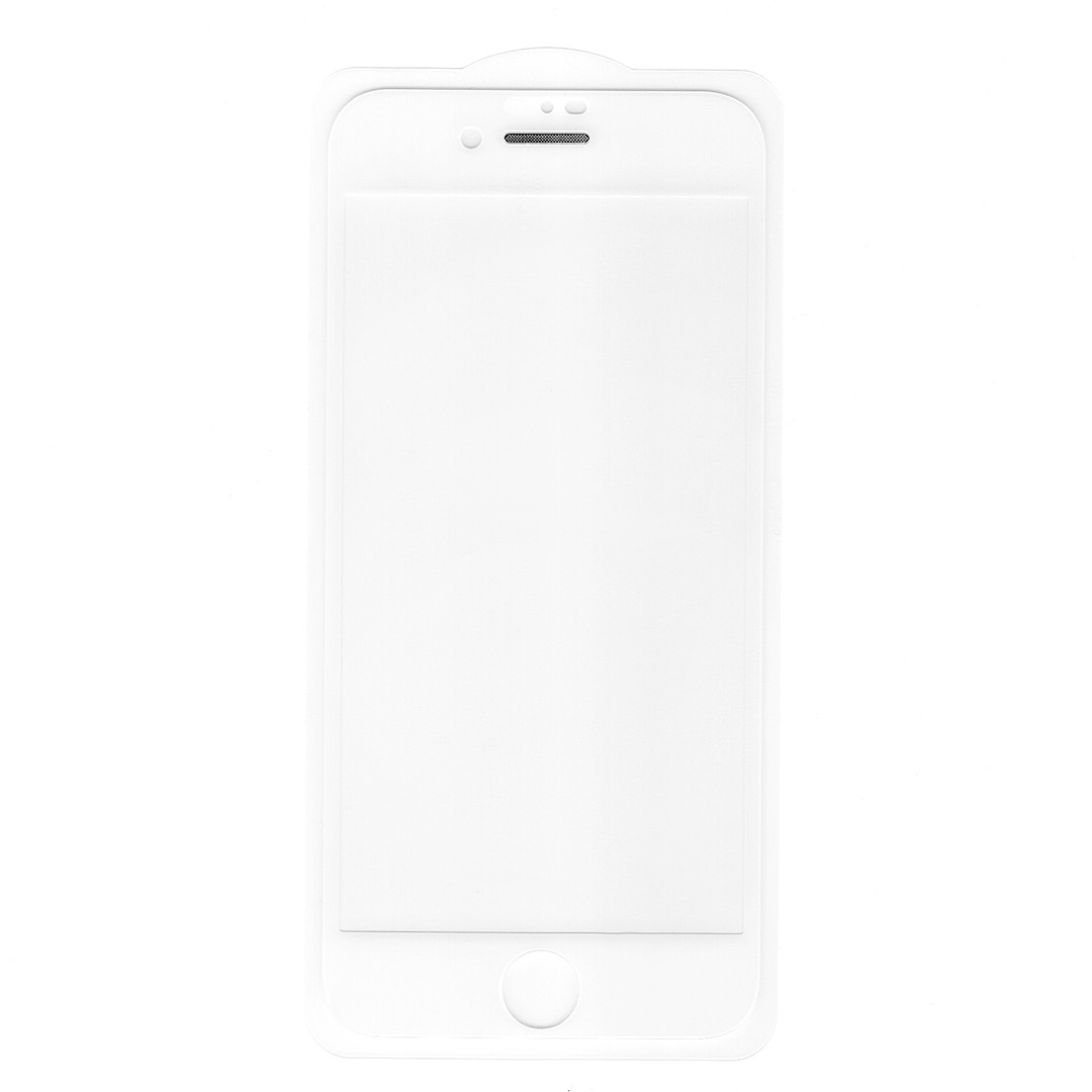 Защитное стекло Full Glue для Apple iPhone 7 / 8 (белый, металлическая сеточка)