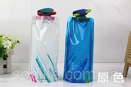 """Складна туристична багаторазова фляга для води (""""анти-пляшка""""), 700 мл"""