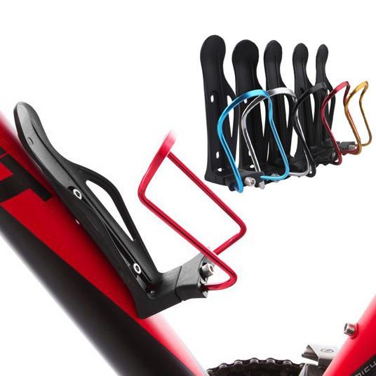 Крепление для фляги / флягодержатель велосипедный раздвижной (ДИАМЕТР 6 - 9 см / метал+пластик / 5 расцветок)
