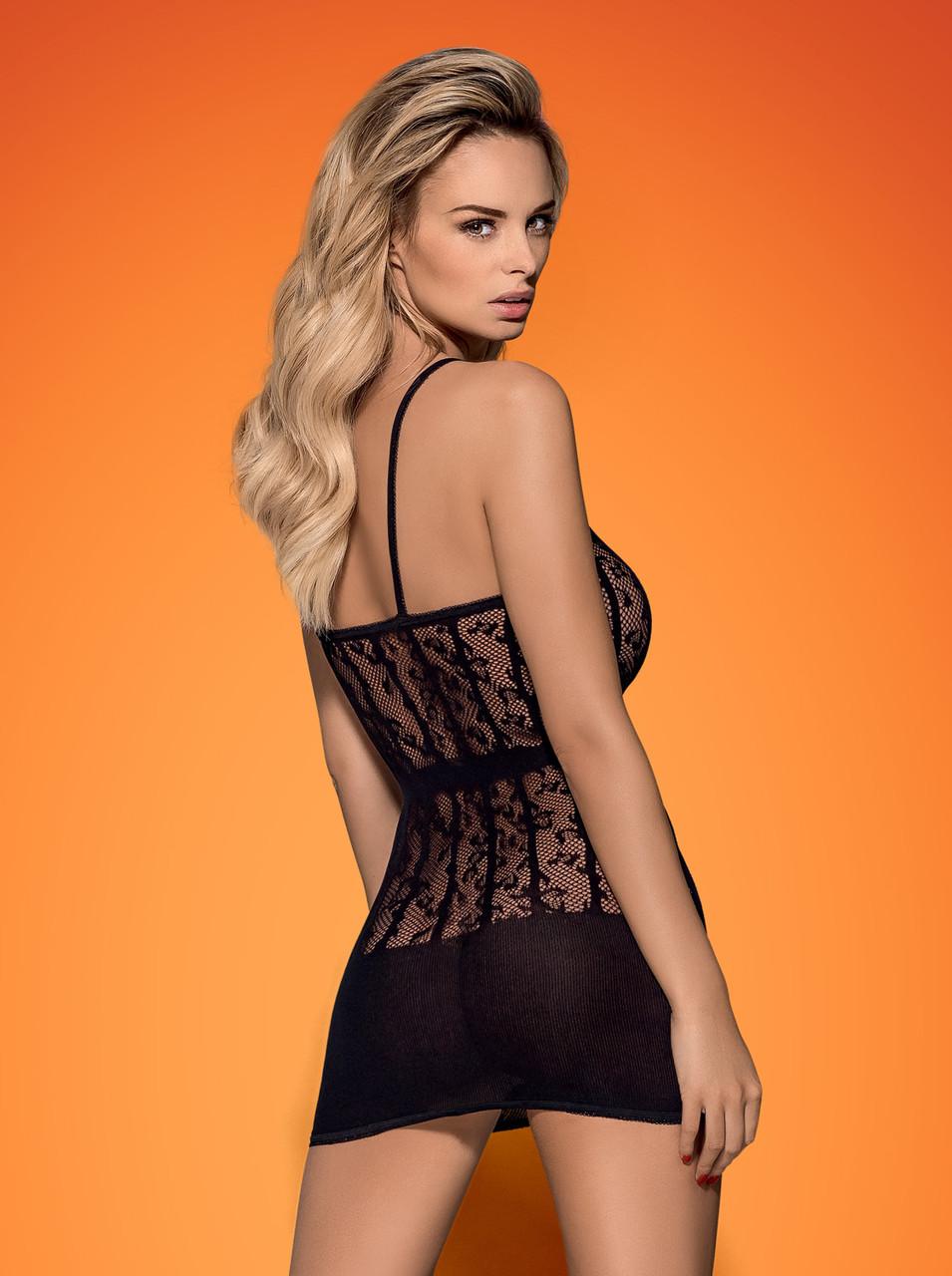 Сексуальное платье-сетка на бретелях D605 by Obsessive