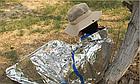 """Аварийный / спасательный """"космический"""" спальный термо-мешок / спальник (210 х 90 см / 80 г), фото 2"""