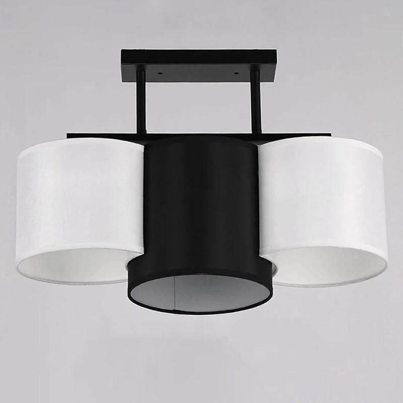 Люстра потолочная на три лампы NM-814308/3 BK WT  черная