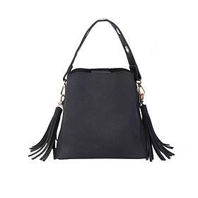 Жіноча зручна сумочка, чорна PA-3