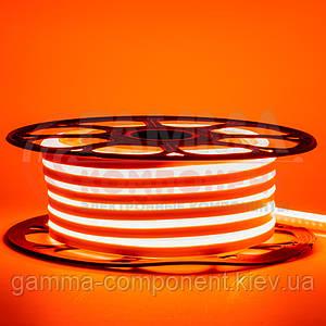Светодиодный неон 12В оранжевый smd 2835-120 лед/м 6Вт/м, 8*16мм ПВХ