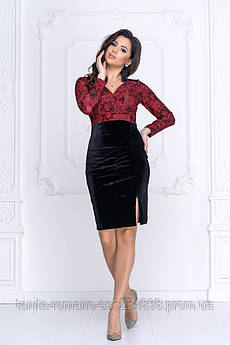 Коктейльна сукня Демі червоне мереживо M