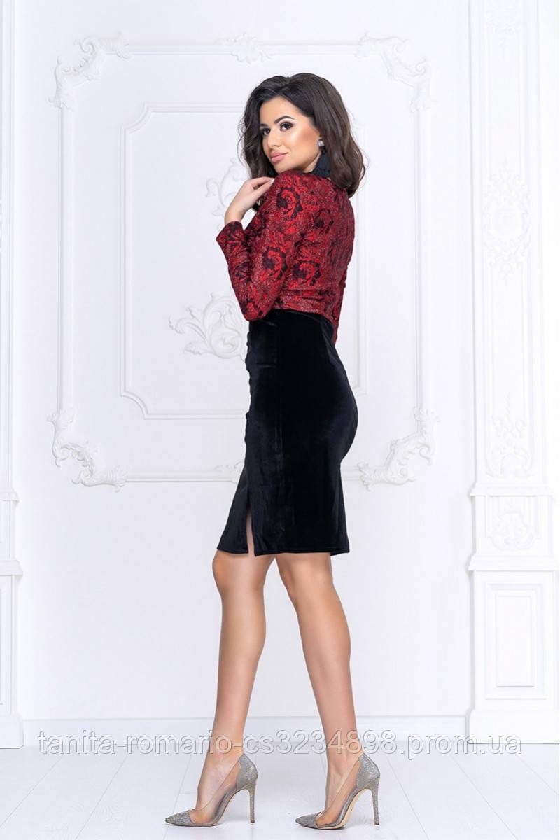 Коктейльна сукня Демі червоне мереживо L