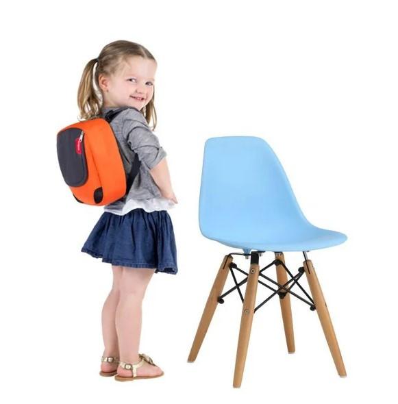 Детский стул Тауэр Вaby, пластиковый, ножки дерево бук, цвет белый, голубой, розовый