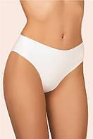 Безшовные хлопковые трусики слип женские 107 C INVISIBLE XL, белый